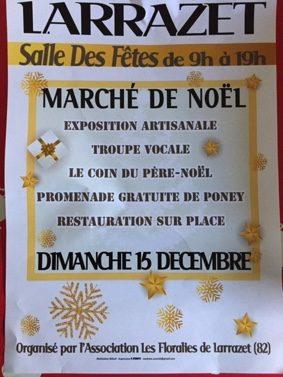 MARCHÉ DE NOËL #Larrazet @ salle des fêtes