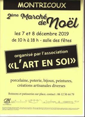 MARCHÉ DE NOËL #Montricoux @ Salle des fêtes