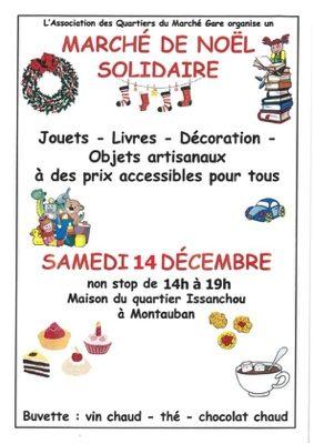MARCHÉ DE NOËL SOLIDAIRE #Montauban @ Maison de Quartier Issanchou