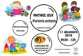 MATINÉE JEUX PARENTS ENFANTS #Mas-Grenier @ Salle des Cérémonies