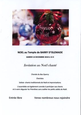 NOËL CHANTÉ #Barry-d'Islemade @ Temple