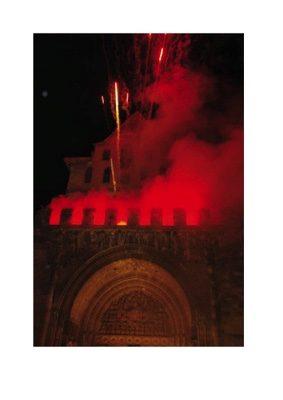 SPECTACLE PYROTECHNIQUE SUR L'ABBATIALE #Moissac @ Parvis de l'Abbatiale