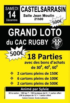 SUPER LOTO CAC RUGBY #Castelsarrasin @ Salle Jean Moulin