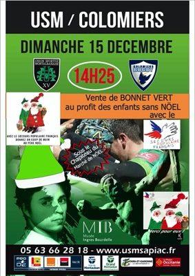 VENTE DE BONNETS VERTS #Montauban @ Stade de Sapiac