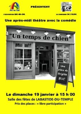"""THÉÂTRE """"UN TEMPS DE CHIEN"""" #Labastide-du-Temple @ salle des fêtes"""