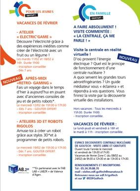 LA CENTRALE, ÇA VOUS PARLE ? VISITE COMMENTÉE #Valence d'Agen @ Espace découverte EDF Golfech