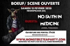 BOEUF/SCÈNE OUVERTE #Nègrepelisse @ Monsterz Tea Party