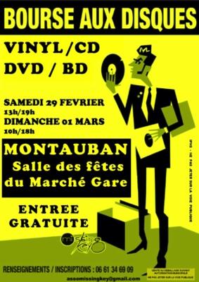BOURSE AUX DISQUES VINYL, CD, DVD & BD #Montauban @ Salle des fêtes du Marché Gare