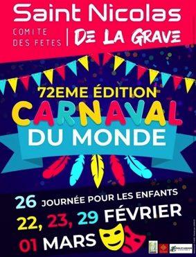 CARNAVAL #Saint-Nicolas-de-la-Grave @ Salle des sports