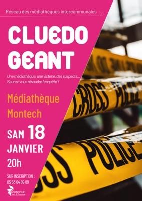 CLUEDO GEANT #Montech @ Médiathèque Intercommunale Montech