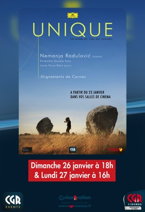 CONCERT CGR EVENTS - RADULOVIC - UNIQUE #Montauban @ Cinéma CGR Le Paris