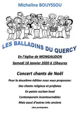 CONCERT CHANTS DE NOËL #Saint-Nazaire-de-Valentane @ Eglise de Mongaudon