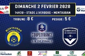 COUPE DE FRANCE FÉMININE - 1/8 DE FINALE #Montauban @ Complexe Jean Verbeke