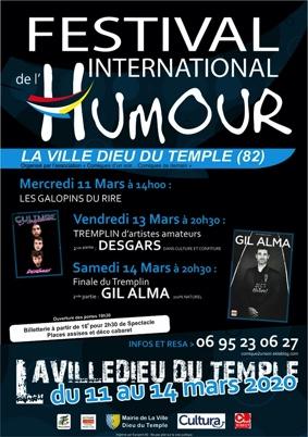 FESTIVAL INTERNATIONAL DE L'HUMOUR - LES GALOPINS DU RIRE #La Ville-Dieu-du-Temple @ Salle des Fêtes
