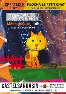 FILOCHA LE PETIT CHAT #Castelsarrasin @ Médiathèque Espace Marcelle Duba