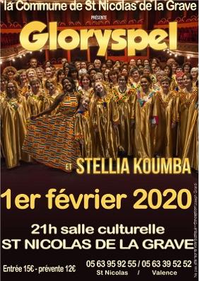 GLORYSPEL ET STELLIA KOUMBA #Saint-Nicolas-de-la-Grave @ Salle culturelle