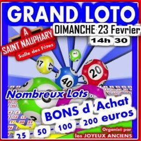 GRAND ET SUPERBE LOTO #Saint-Nauphary @ salle des fêtes