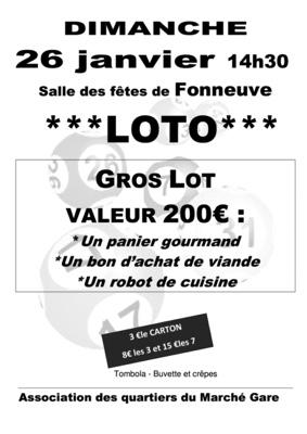 GRAND LOTO #Montauban @ Salle des fêtes de Fonneuve
