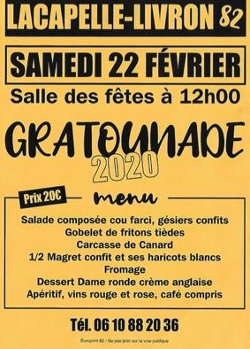 GRATOUNADE #Lacapelle-Livron @ salle des fêtes
