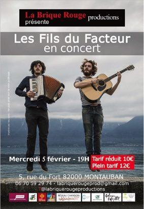 LES FILS DU FACTEUR EN CONCERT #Montauban @ Le Fort