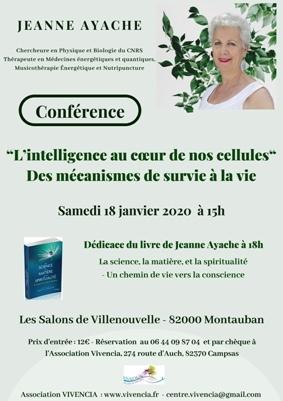 L'INTELLIGENCE AU COEUR DE NOS CELLULES #Montauban @ Hotel Les salons de Villenouvelle