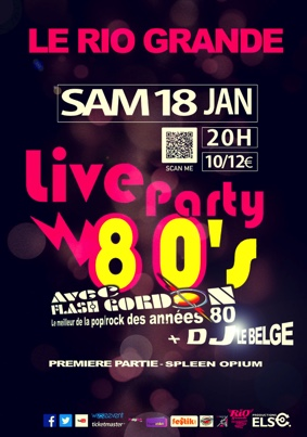 LIVE PARTY 80 #Montauban @ Le Rio Grande