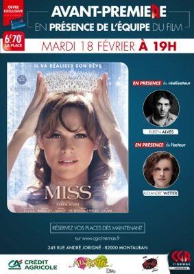MISS - EN AVANT PREMIÈRE EN PRÉSENCE DE L'ÉQUIPE DU FILM #Montauban @ CGR MONTAUBAN