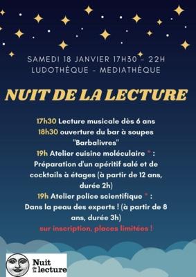 NUIT DE LA LECTURE #Labastide-Saint-Pierre @ Ludothèque Médiathèque