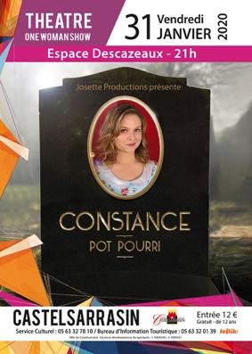"""ONE WOMAN SHOW """"CONSTANCE"""" #Castelsarrasin @ Espace Descazeaux"""