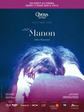 OPÉRA COMIQUE MANON DE MASSENET EN DIRECT DE L'OPÉRA BASTILLE #Beaumont-de-Lomagne @ Cinéma Les Nouveaux Bleus