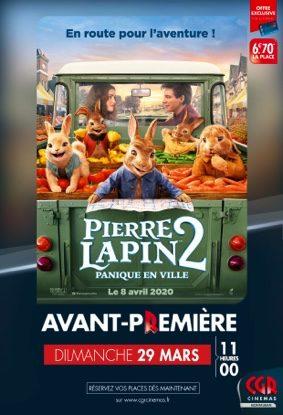 PIERRE LAPIN 2 - EN AVANT-PREMIÈRE #Montauban @ CGR MONTAUBAN
