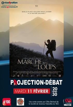 PROJECTION & DÉBAT - MARCHE AVEC LES LOUPS #Montauban @ Cinéma CGR Le Paris