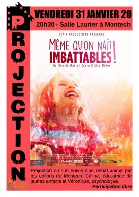 """PROJECTION DU FILM """"MÊME QU'ON NAÎT IMBATTABLES"""" #Montech @ Salle Laurier"""