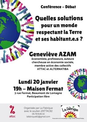 QUELLES SOLUTIONS POUR UN MONDE RESPECTANT LA TERRE ET SES HABITANT.E.S #Beaumont-de-Lomagne @ Maison Fermat