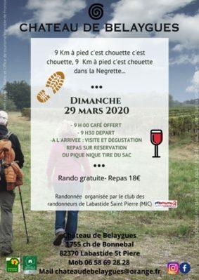 RANDONNÉE DANS LES VIGNES #Labastide-Saint-Pierre @ Chateau de Belaygues