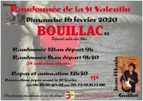 RANDONNÉE DE LA ST-VALENTIN #Bouillac @ salle des fêtes