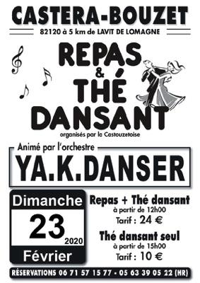 REPAS ET THE DANSANTS ANIMES PAR YA.K DANSER #Castéra-Bouzet @ salle des fêtes