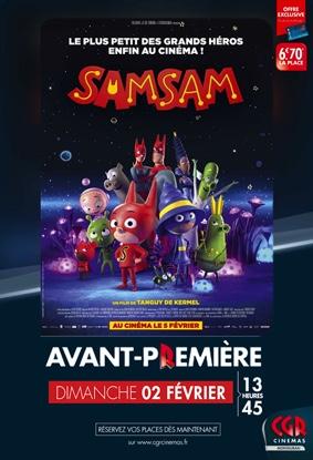 SAMSAM EN AVANT-PREMIÈRE #Montauban @ CGR MONTAUBAN