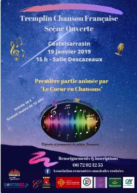SCÈNE OUVERTE / TREMPLIN CHANSON FRANÇAISE #Castelsarrasin @ Salle Descazeaux
