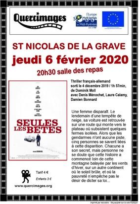 SEULES LES BÊTES #Saint-Nicolas-de-la-Grave @ Salle des repas