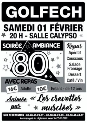 SOIREE ANNEES 80 AVEC REPAS #Golfech @ Salle Polyvalente