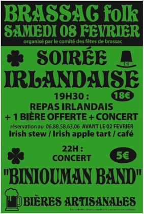 SOIRÉE IRLANDAISE #Brassac @ salle des fêtes