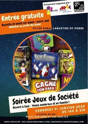SOIRÉE JEUX #Labastide-Saint-Pierre @ Foyer Rural