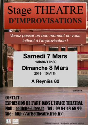 STAGE D'IMPROVISATIONS #Villebrumier @ Salle des associations