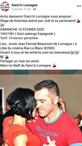 STAGE KIZOMBA #Beaumont-de-Lomagne @ Ecole