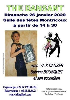 THE DANSANT YAK DANSER - SABRINA BOUSQUET A L'ACCORDEON #Montricoux @ Salle des Fêtes