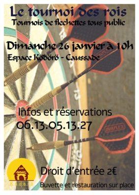 TOURNOI DE FLECHETTES #Caussade @ Espace Kodoro