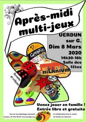 APRÈS-MIDI MULTI-JEUX #Verdun-sur-Garonne @ salle des fêtes
