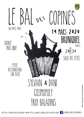 BAL DES COPINES - BAL NÉO-TRAD #Bruniquel @ salle des fêtes