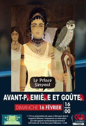 CINÉ-GOÛTER LE PRINCE SERPENT / EN AVANT-PREMIÈRE #Montauban @ Cinéma CGR Le Paris